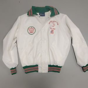 Other - Vintage 80s Italian mens club large white jacket